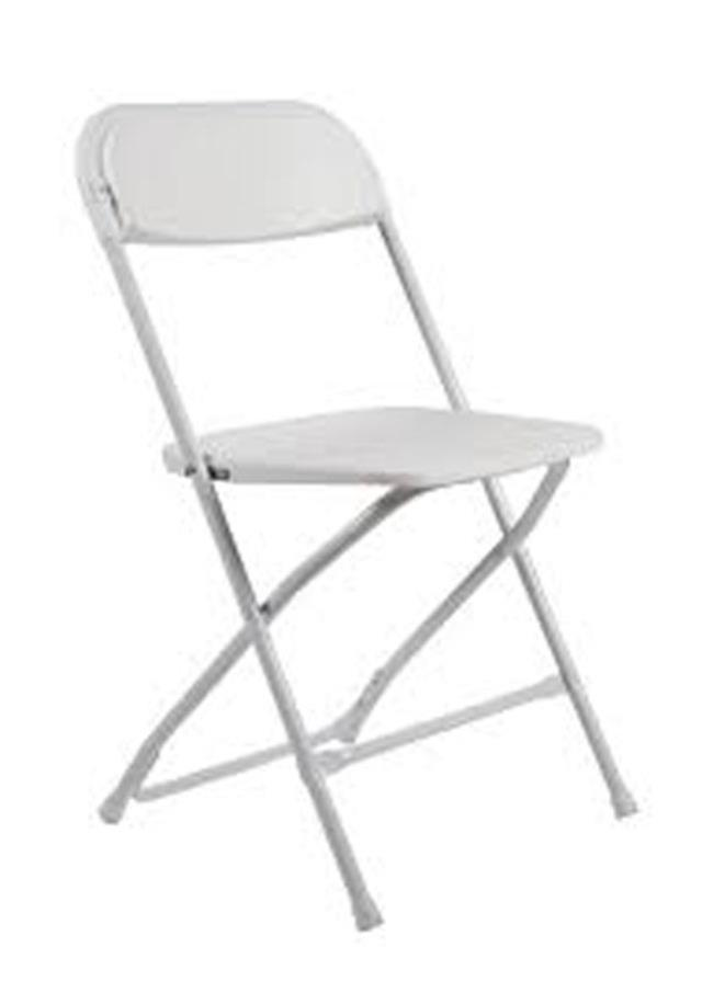 Where to find CHAIR, WHITE PLASTIC in Roanoke