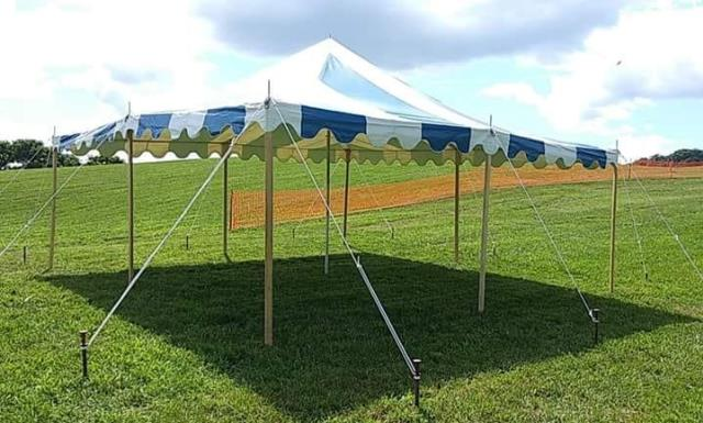 Where to find TENT, POLE 20X20 B W in Roanoke