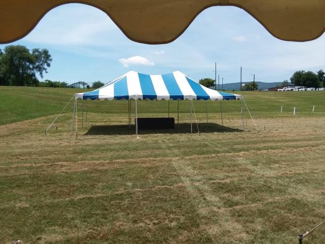 Where to find TENT, POLE 20X30 B W in Roanoke
