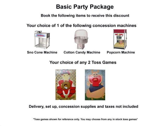 Where to find PACKAGE DISCOUNT BASIC PARTY in Roanoke