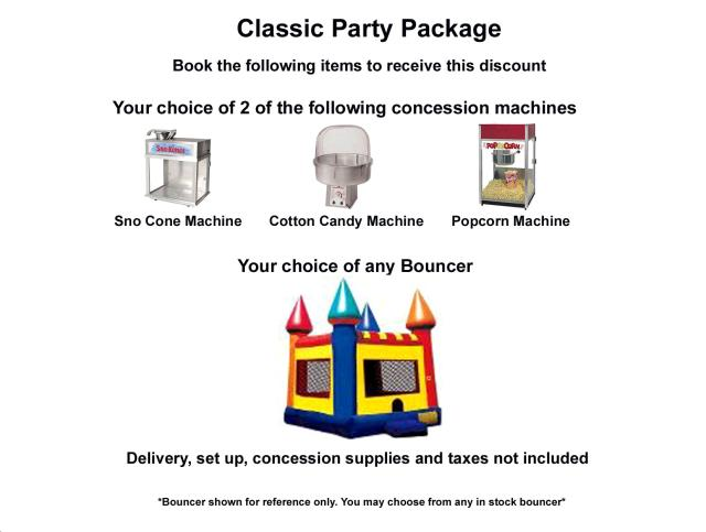 Where to find PACKAGE DISCOUNT CLASSIC PARTY in Roanoke