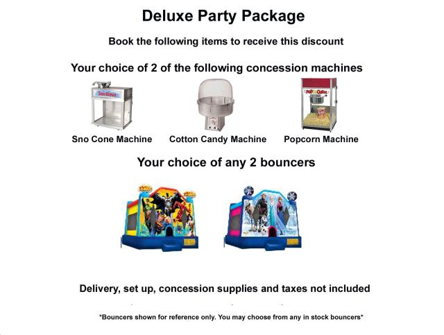 Where to find PACKAGE DISCOUNT DELUXE PARTY in Roanoke