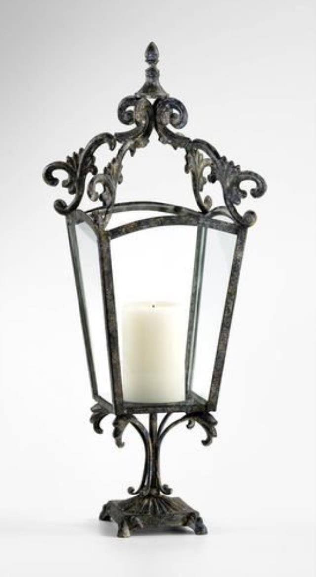 Where to find 27.5  WROUGHT IRON LANTERN CANDLE HOLDER in Roanoke