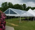 Rental store for TENT, FRAME 30X30 CLEAR AZTEC GABLE ENDS in Roanoke VA