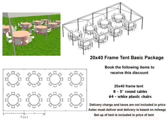 Where to find PACKAGE DISCOUNT BASIC 20X40 FRAME TENT in Roanoke